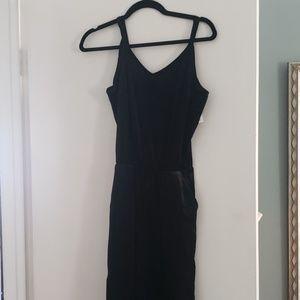 NWT XS Old Navy Black Velvet Jumpsuit
